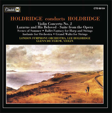 CD cover - Holdridge Conducts Holdridge